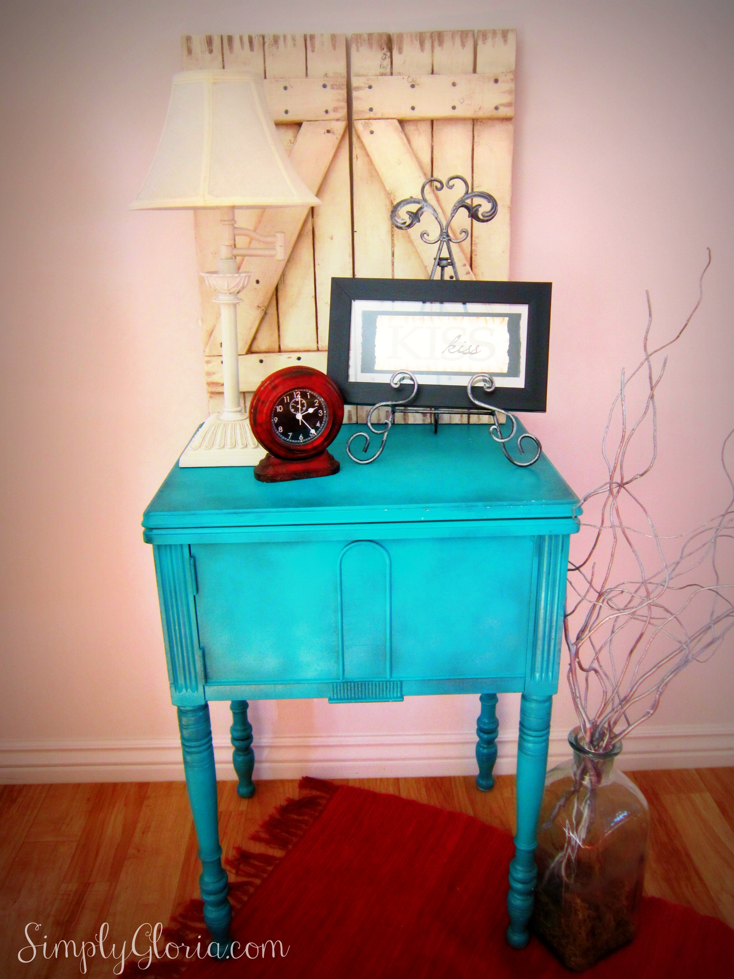 Sewing Table Makeover Simply Gloria