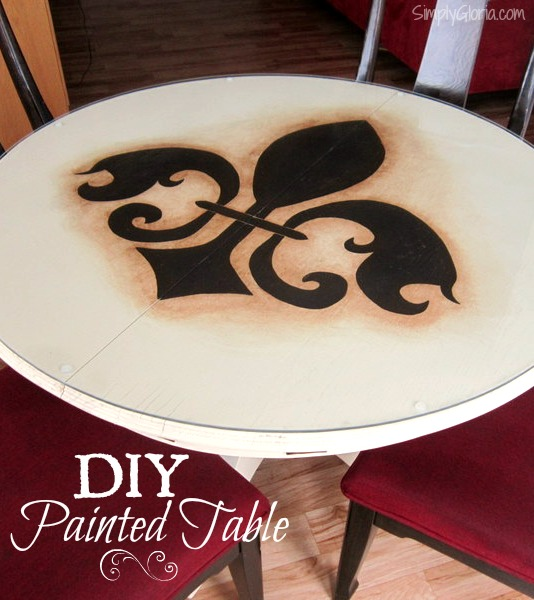 DIY Painted Table SimplyGloria.com  #DIY
