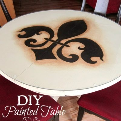 DIY Painted Dining Table