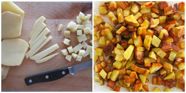 Fried Potatoes for Skillet Breakfast Burritos