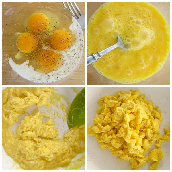 How to make fluffy scrambled eggs in only a few minutes!