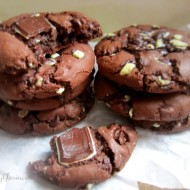 Mint Triple Chocolate Cookies