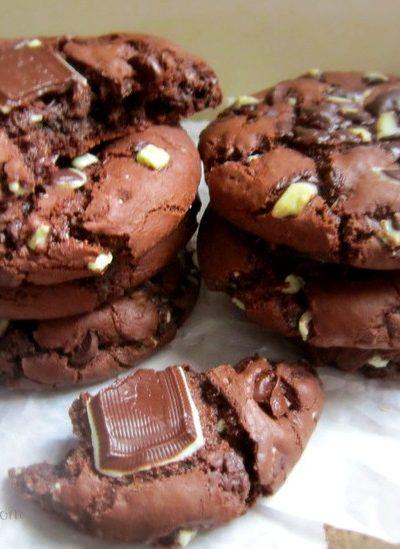 Mint Triple Chocolate Cookies