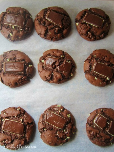 Mint Triple Chocolate Cookies.