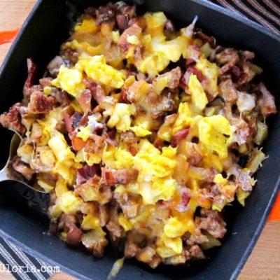 Skillet Breakfast Burritos