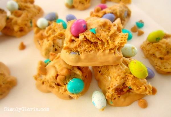 Triple Peanut Butter Chex Bars by SimplyGloria.com