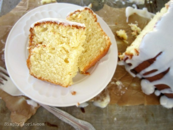 Buttermilk Pound Cake and Cream Cheese Icing