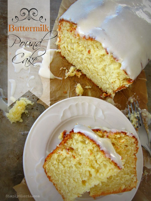 Buttermilk Pound Cake with Cream Cheese Glaze by SimplyGloria.com