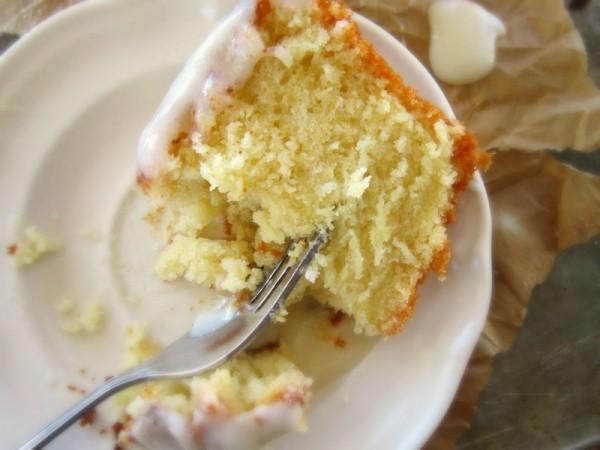 Buttermilk Pound Cake with Cream Cheese Icing - SimplyGloria.com