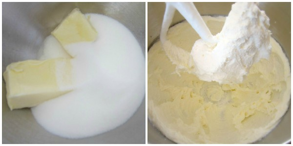Cream butter and sugar for 8 min