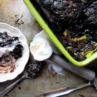 Dark Chocolate Hot Fudge Cake