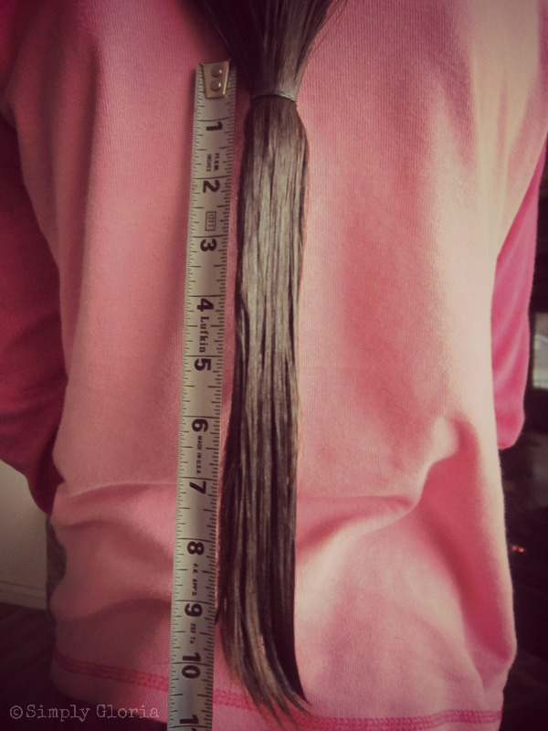 Donating 10 inches to Locks of Love - SimplyGloria.com