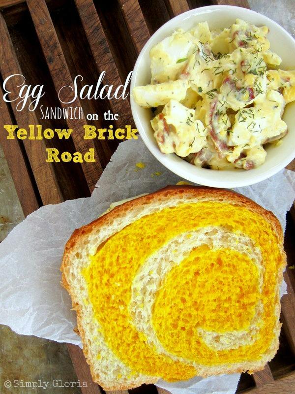 Egg Salad Sandwich on the Yellow Brick Road - SimplyGloria.com
