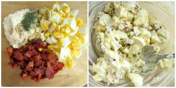 Egg Salad with Bacon -SimplyGloria.com
