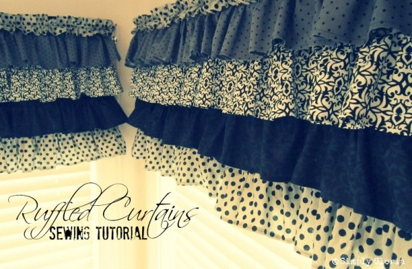 How to Make Ruffled Kitchen Curtains - SimplyGloria.com