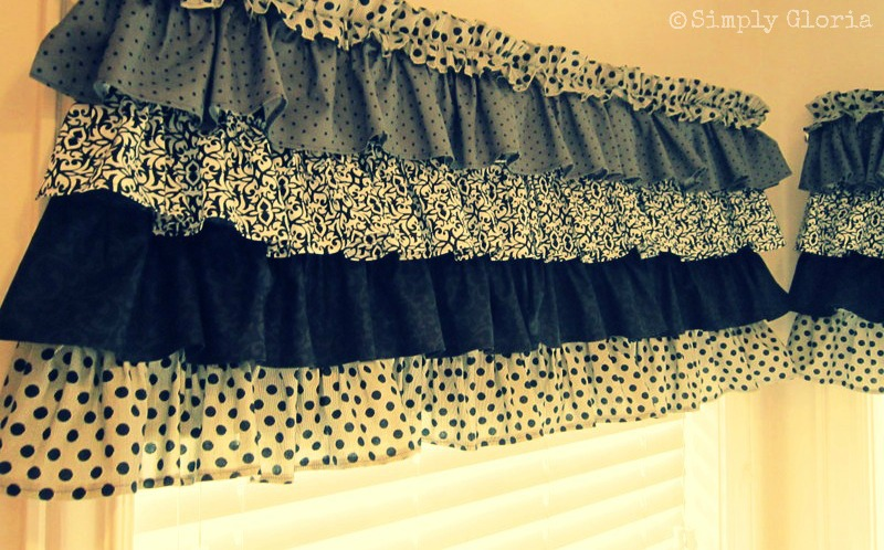 How To Make Ruffled Curtains For The Kitchen Simplygloria