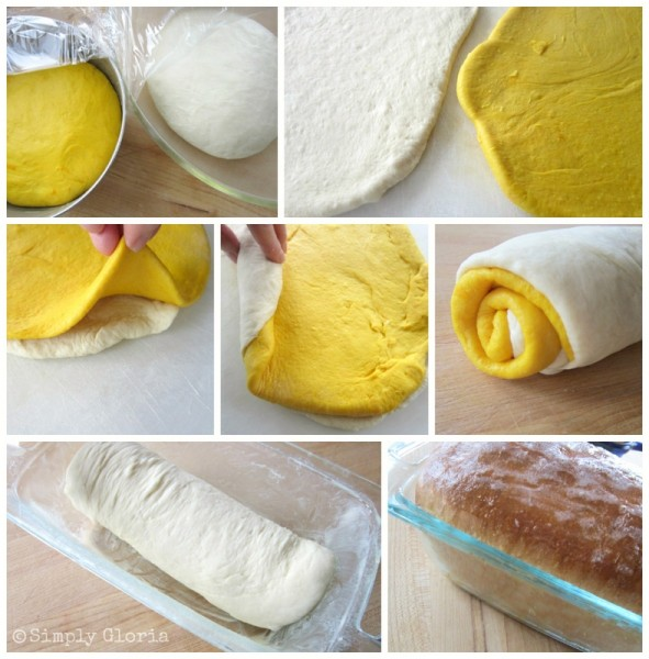 Process to making Yellow Brick Road Bread - SimplyGloria.com-001