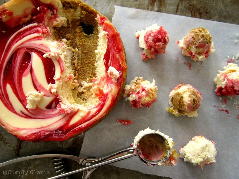 Strawberry Cheesecake Bites - Simply Gloria