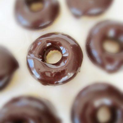 Chocolate Ganache Covered Banana Donuts