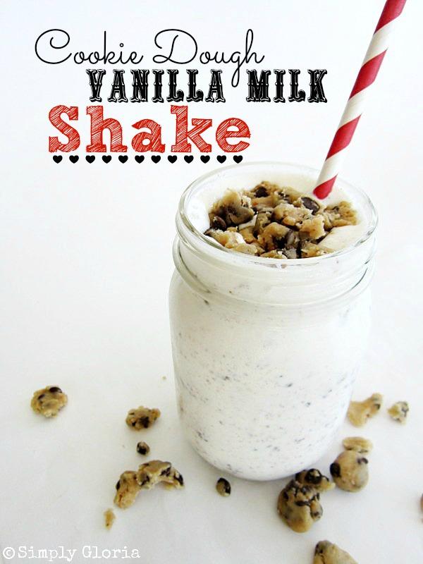 Cookie Dough Vanilla Milk Shake - SimplyGloria.com