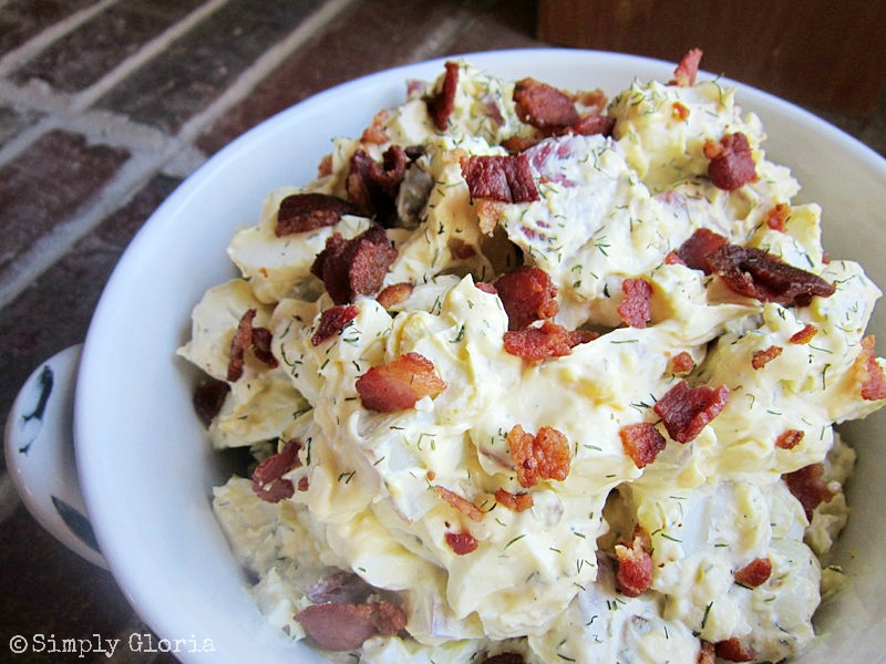 Bacon, Sour Cream And Dill Potatoes Recipe — Dishmaps