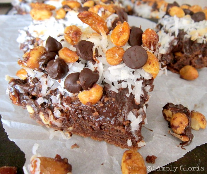 German Chocolate Fudge Bars Simplygloria Com Made With An Easy Cake Mix For A