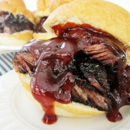 BBQ Grilled Beef Ribs Sandwiches