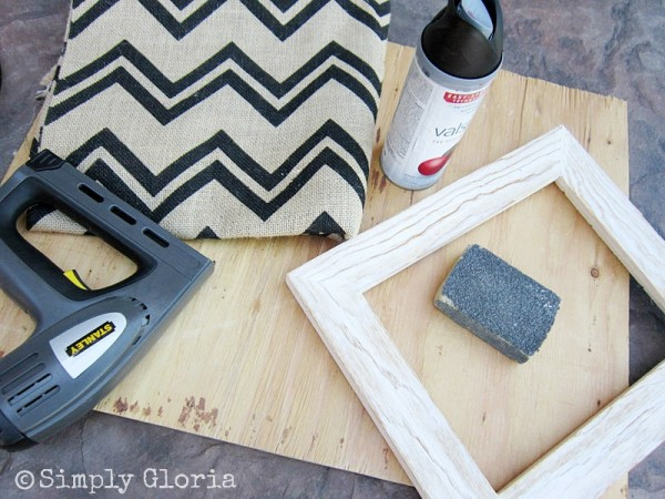 Chevron Burlap and Free Printable1