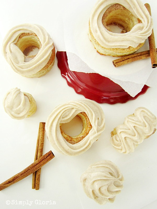 Cinnamon Cream Cheese Pastry Doughnuts - Easy and Baked! by SimplyGloria.com