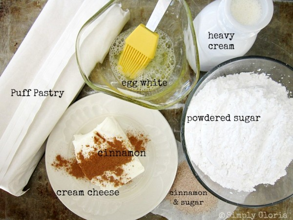 Cinnamon Cream Cheese Pastry Doughnuts Ingredients