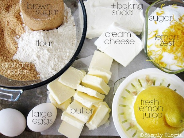 Creamy Lemon Cheesecake Ingredients - SimplyGloria.com