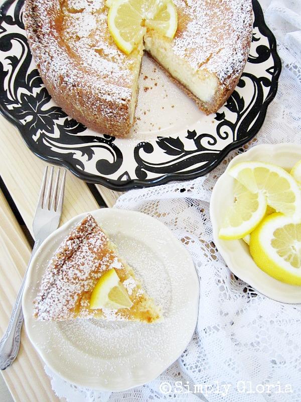 Creamy Lemon Cheesecake - SimplyGloria.com