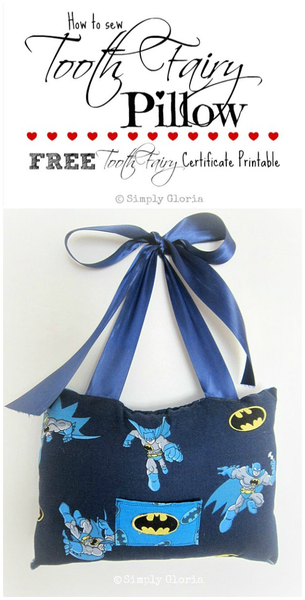 Easy Sewing Tutorial & FREE Tooth Fairy Certificate Printable - SimplyGloria.com