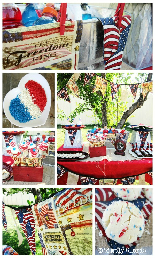 July 4th Dessert Table - SimplyGloria.com #4thofJuly #party