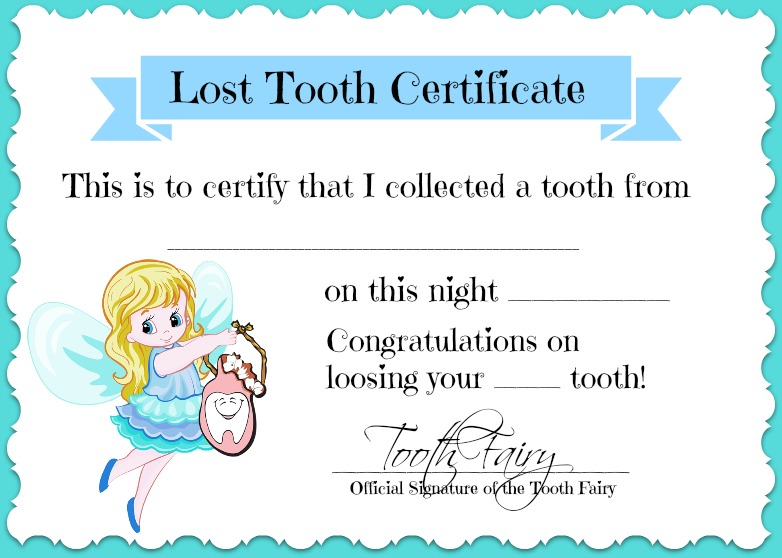 Amazing image with printable tooth fairy letter