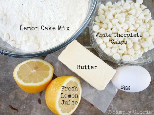 White Chocolate Lemon Cookies Ingredients