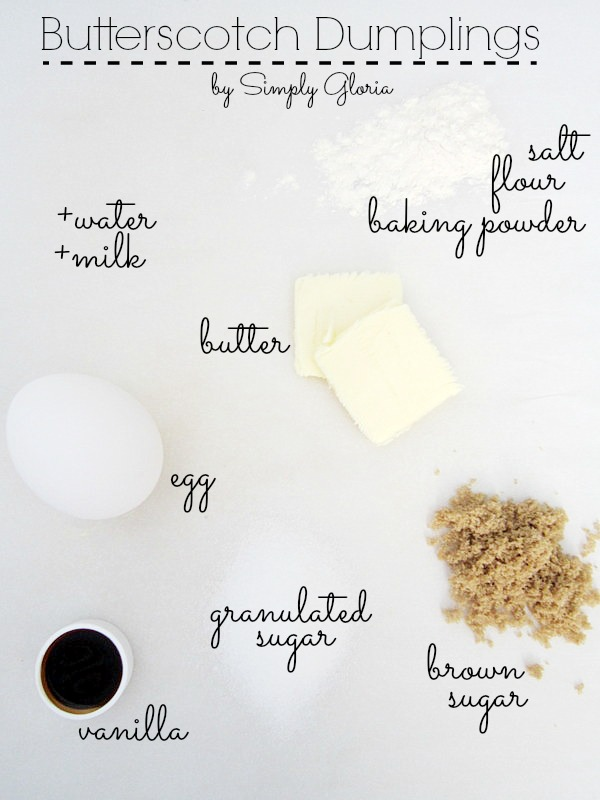 Butterscotch Dumplings Ingredients