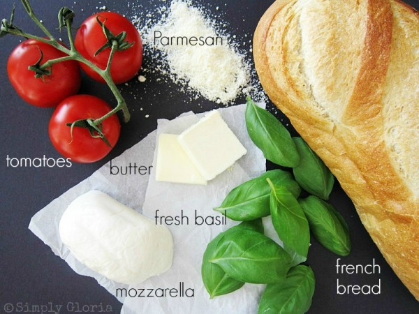Caprese Grilled Cheese Ingredients