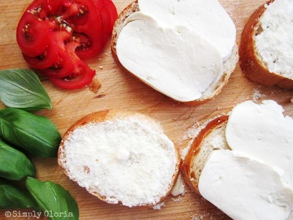 Caprese Grilled Cheese - SimplyGloria.com