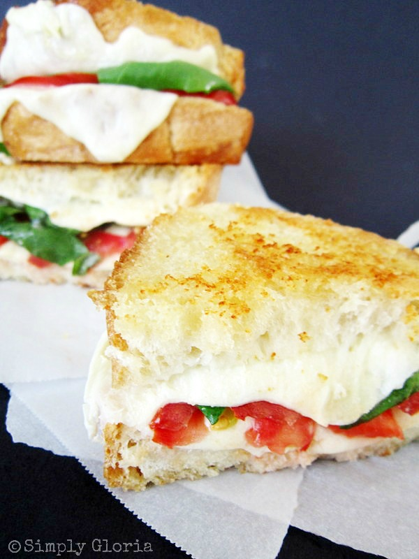 Caprese Grilled Cheese by SimplyGloria.com