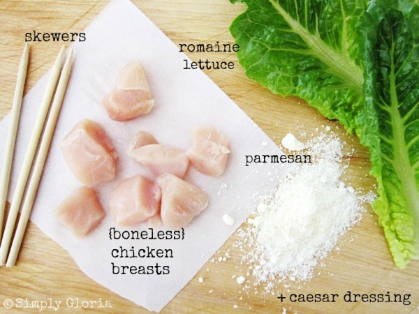 Grilled Chicken Caesar Salad Ingredients