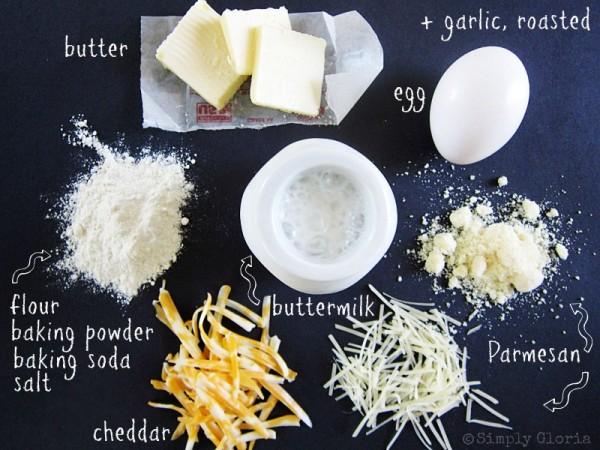 Roasted Garlic Parmesan Biscuits Ingredients