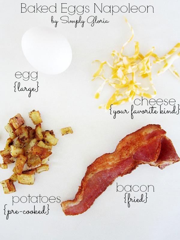 Baked Eggs Napoleon Ingredients
