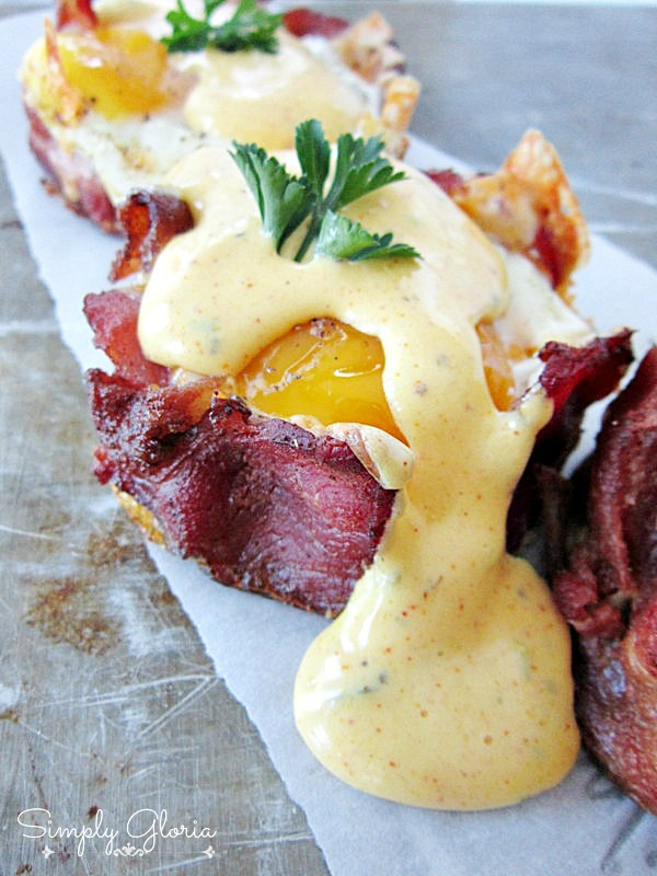 Baked Eggs Napoleon With Hollandaise Sauce by SimplyGloria.com