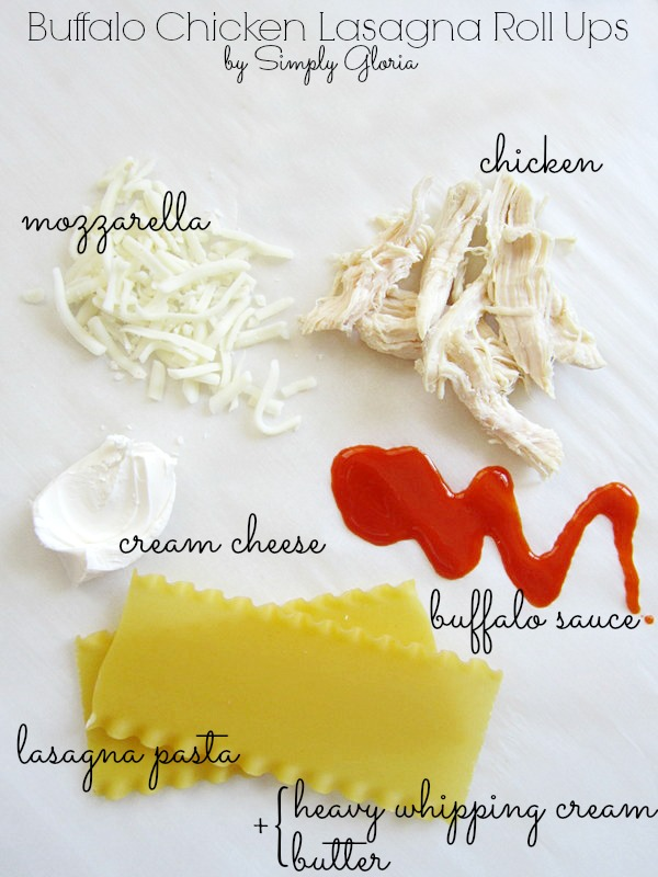 Buffalo Chicken Lasagna Roll Ups Ingredients