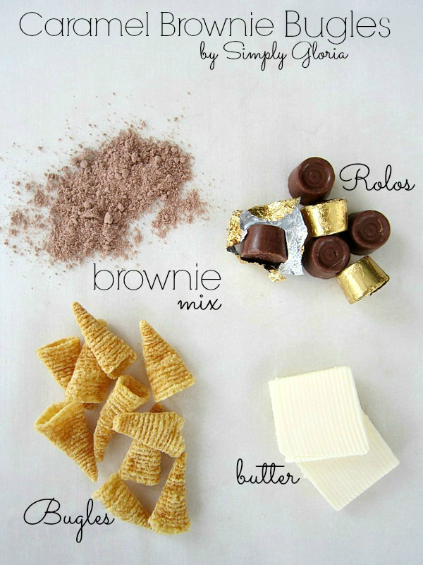 Caramel Brownie Bugles Ingredients by SimplyGloria.com