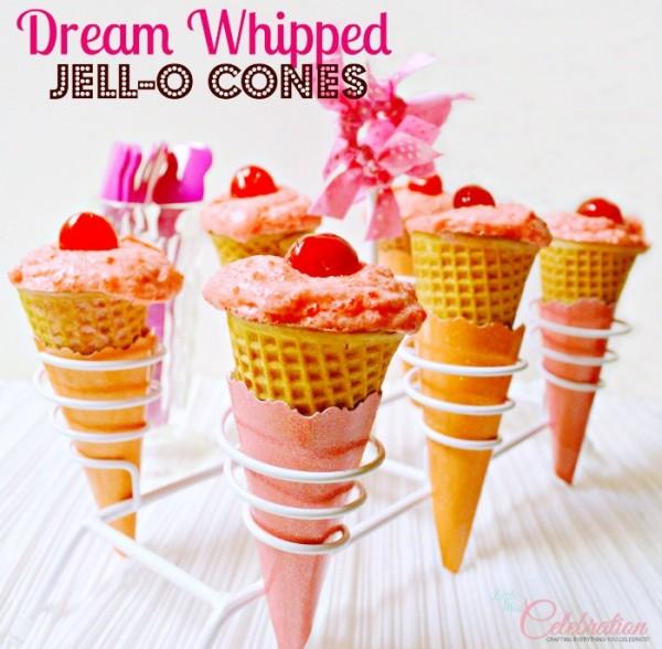 Dream Whipped Jello-O Cones