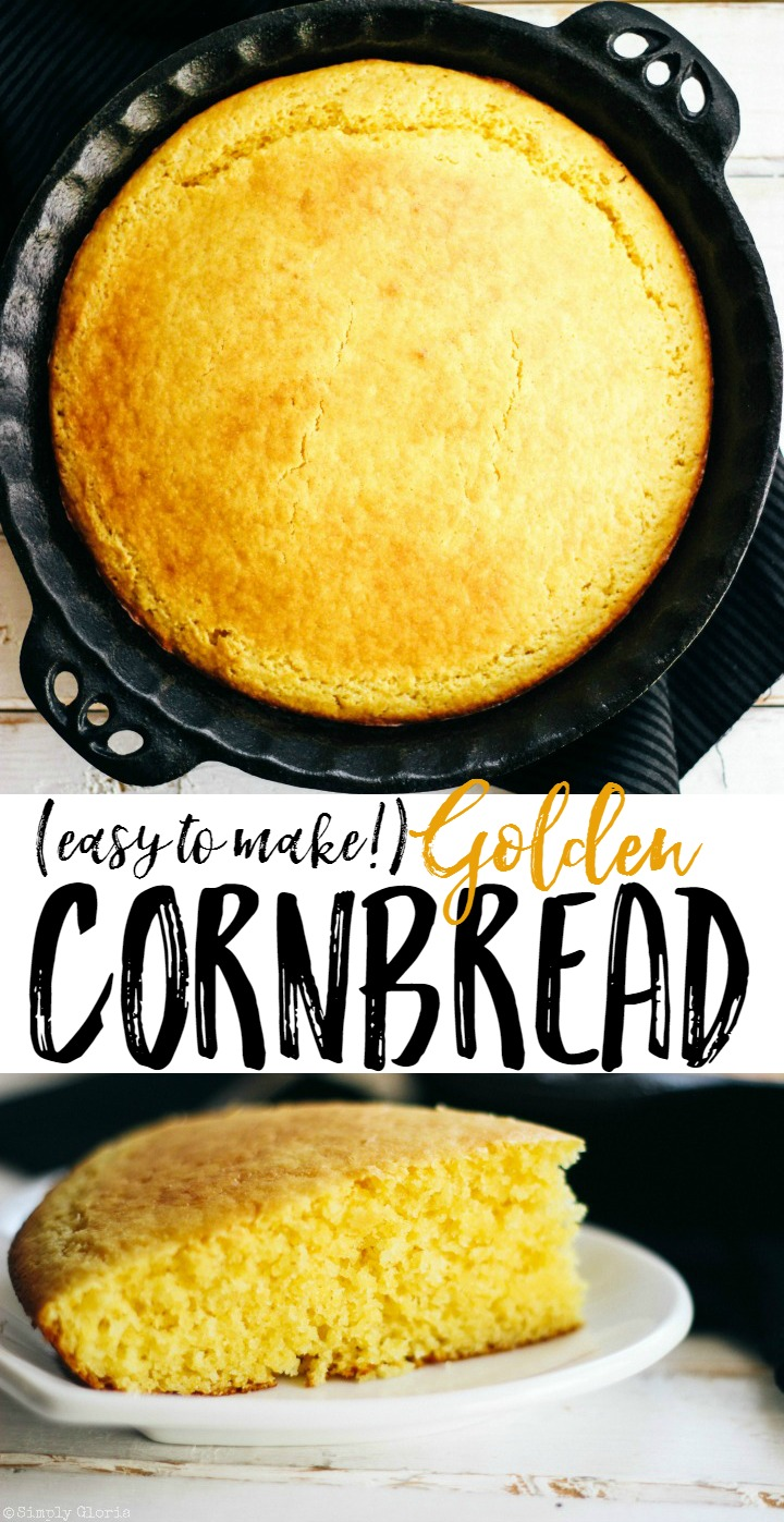Easy Golden Cornbread is melt-in-your-mouth delicious!