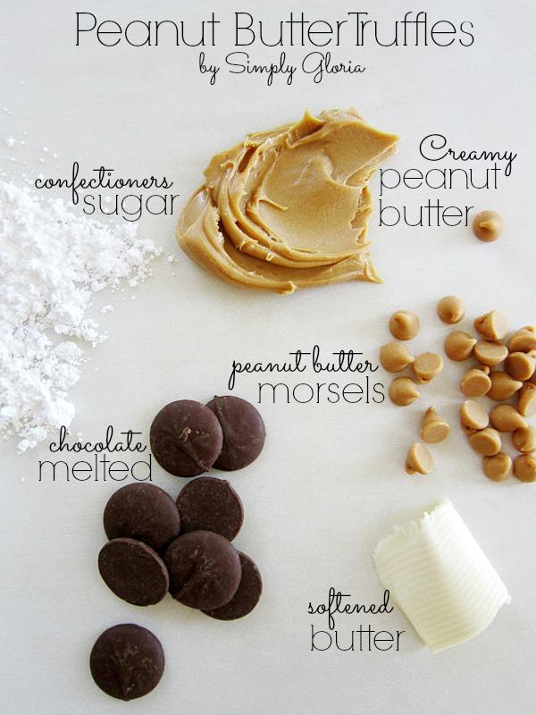 Peanut Butter Truffles - Creamy little bites of #peanutbutter!