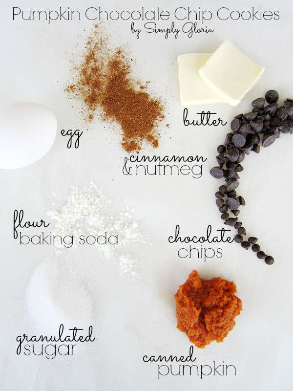Pumpkin Chocolate Chip Cookies Ingredients